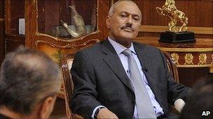 President Ali Abdullah Saleh. 25 May 2011
