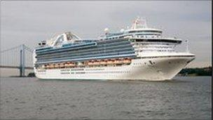 The Crown Princess cruise liner