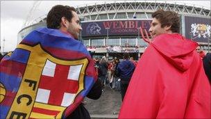 A Barcelona fan and Manchester United supporter