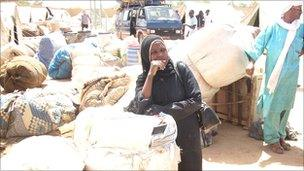 A woman from Niger in Agadez who fled from Libya