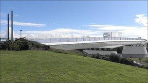 Planned replacement for Northside bridge