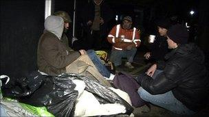 Sleep-out in Cornwall in February
