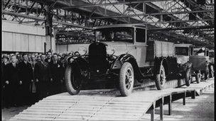 Ford production line at Dagenham in 1931