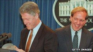 Bill Clinton and Mike McCurry