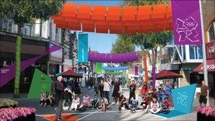 London 212 artists impression of street scene