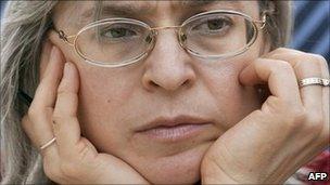 Russian journalist Anna Politkovskaya, image from March 2005
