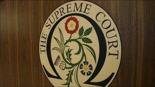 Supreme Court sign