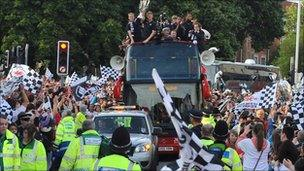 Swansea City parade