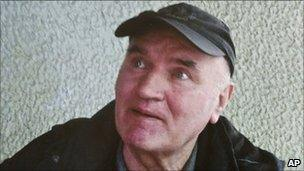Ratko Mladic pictured after his arrest