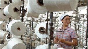 A weaving factory in China