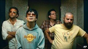 Bradley Cooper, Ken Jeong, Ed Helms and Zach Galifianakis in The Hangover Part II