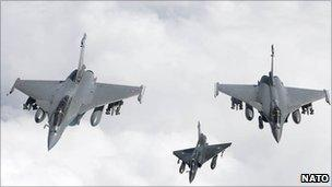 French Mirage 2000D participating in Nato's Operation Unified Protector