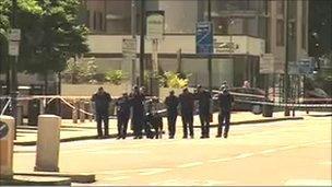 Scene of shooting in Clapham Road