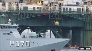 Danish Navy at the Leiv Eiriksson
