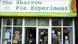 The Sharrow Pie Experiment on London Road in Sheffield