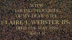 Claire Morris gravestone