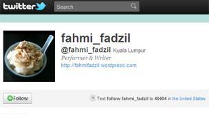 Fahmi Fadzil's Twitter page