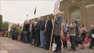 Residents protest over the recycling plant