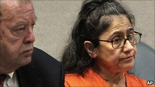 Nancy Garrido in court in California with attorney April 2011