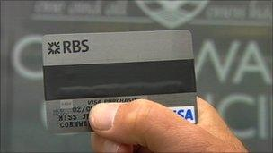 Cornwall Council spending card