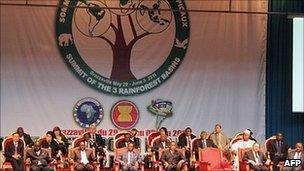 State leaders attend the last day of the summit