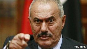 Yemen's President Ali Abdullah Saleh in Sanaa - 25 May 2011