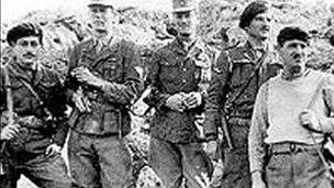 Major Leigh Fermor dressed as a German soldier