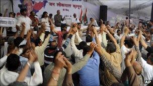 Supporters of Anna Hazare
