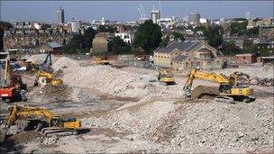Chelsea Barracks site in 2008
