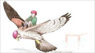 Artist impression of the Kes flying machine