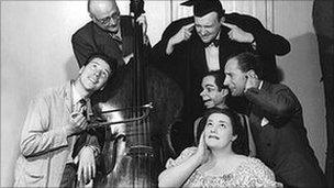 Max Bygraves, Peter Brough Hattie Jacques and others in Educating Archie
