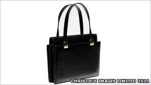 Handbag owned by Margaret Thatcher. Picture supplied by Christie's Images Limited