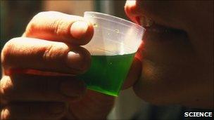 Man drinks methadone