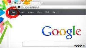 A screenshot of Google+