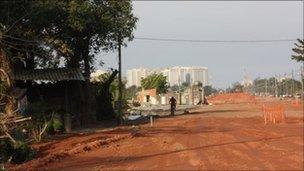 New road being built in Rio