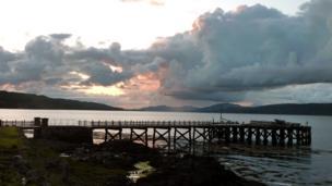 Sunset over Salen