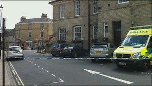 police cordon in Wetherby
