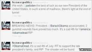 Fox News twitter feed