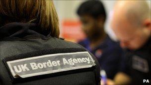 UK Border Agency label