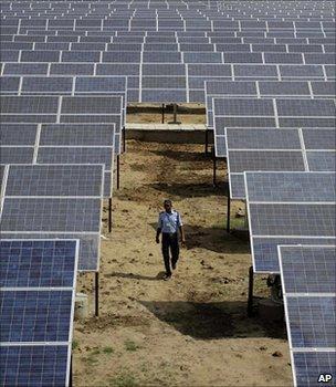 Solar power station, India (Image: AP)