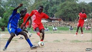 South Sudan's national team - practice session