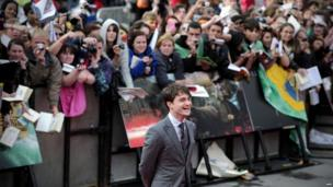 Daniel Radcliffe at the Harry Potter and the Deathly Hallows: Part 2 premiere