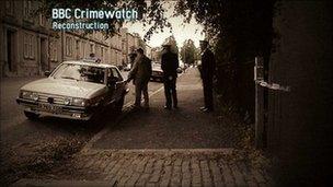 Crimewatch reconstruction of crime scene