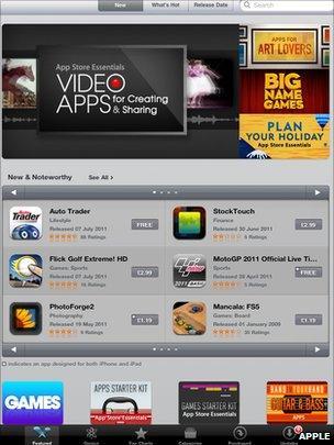 App store on iPad