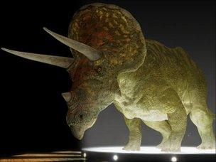 A CGI Triceratops