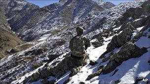 Isaf soldier in Kandahar