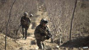 French troops on patrol in Afghanistan - July 2011