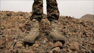 Soldier's boots