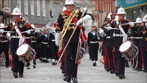 The march in Truro