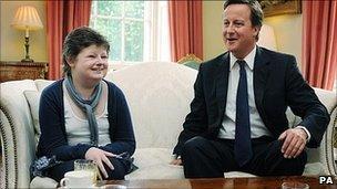 Alice Pyne and David Cameron